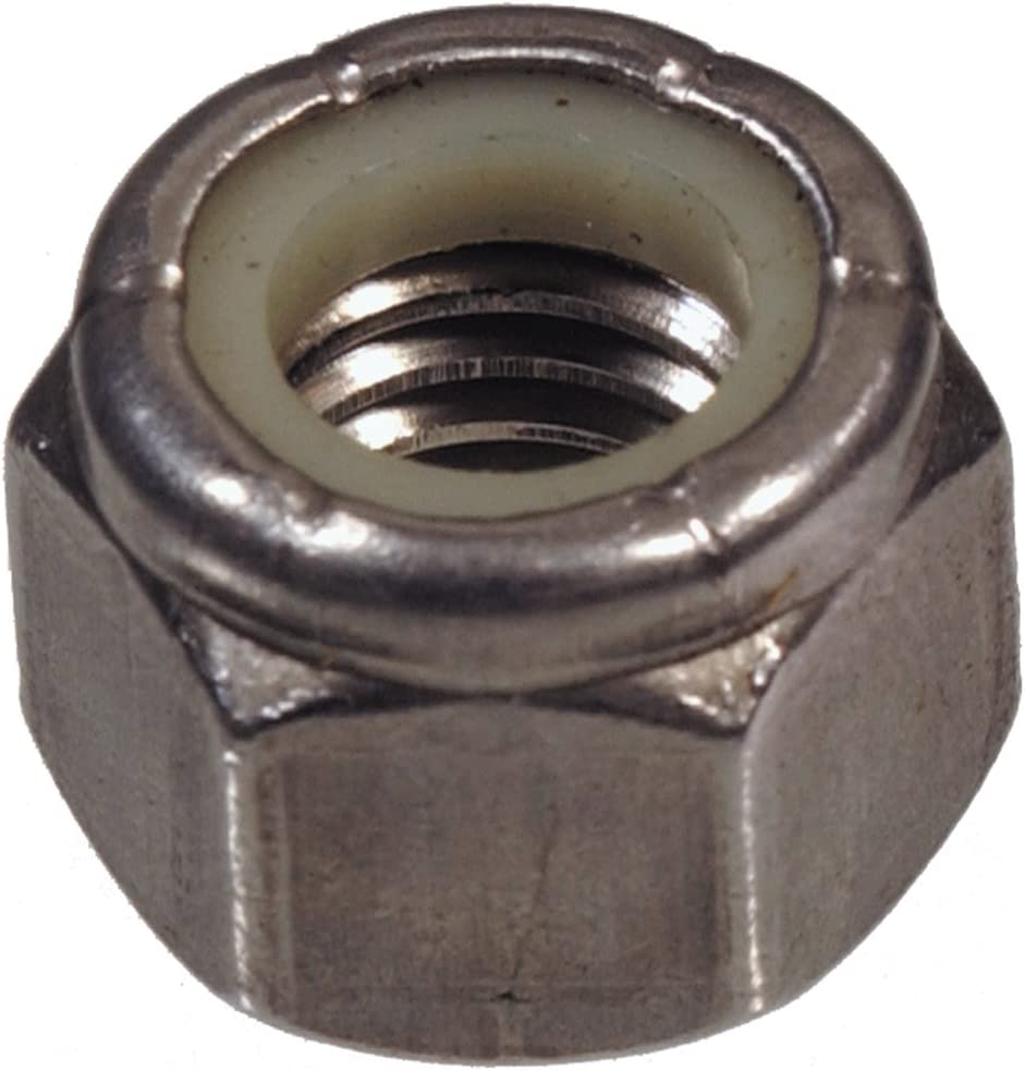 The Hillman Group 4358 7//16-20 Stainless Steel Stop Nut 5-Pack Nylon Insert