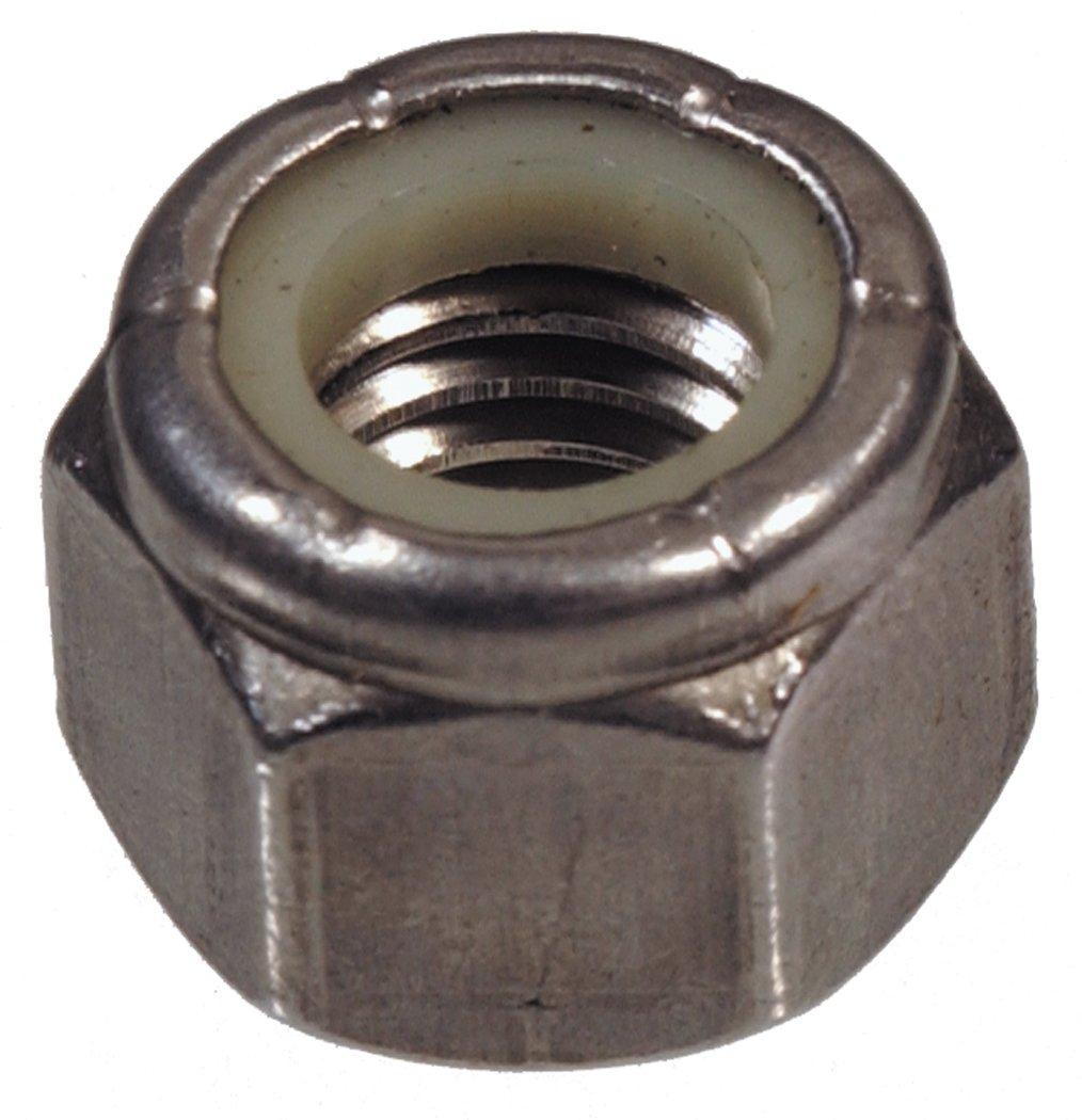 The Hillman Group 829762 3/8-24 Stainless Steel Nylon Insert Locknut, 50-Pack