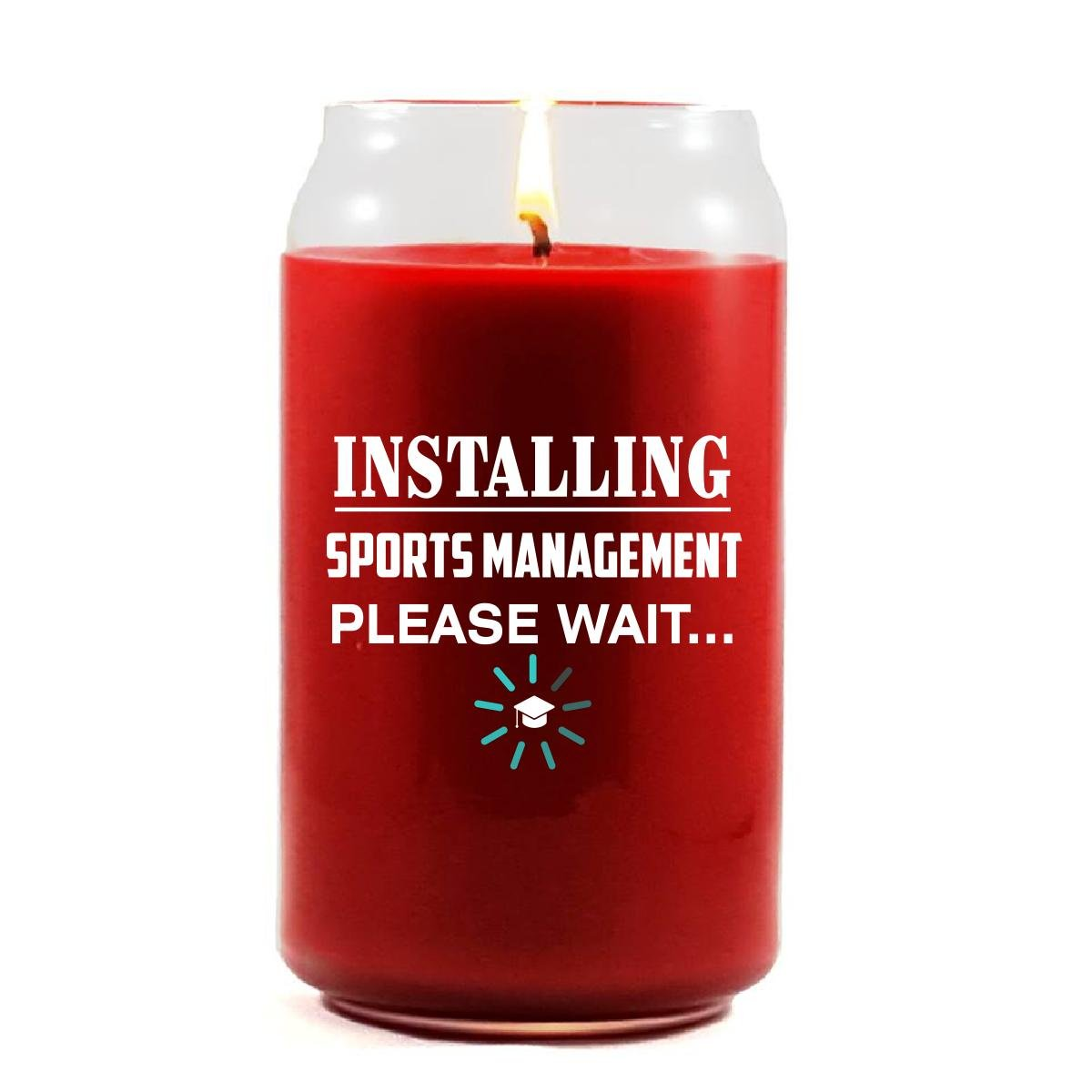 Installing SPORTS MANAGEMENT Please Wait College Degree - Scented Candle