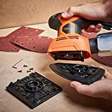 VonHaus 2 in 1 Sheet Detail Sander - 14000 RPM with 6 Sanding Sheets, Compact Lightweight Design with Dust Extraction System and 6ft Power Cord