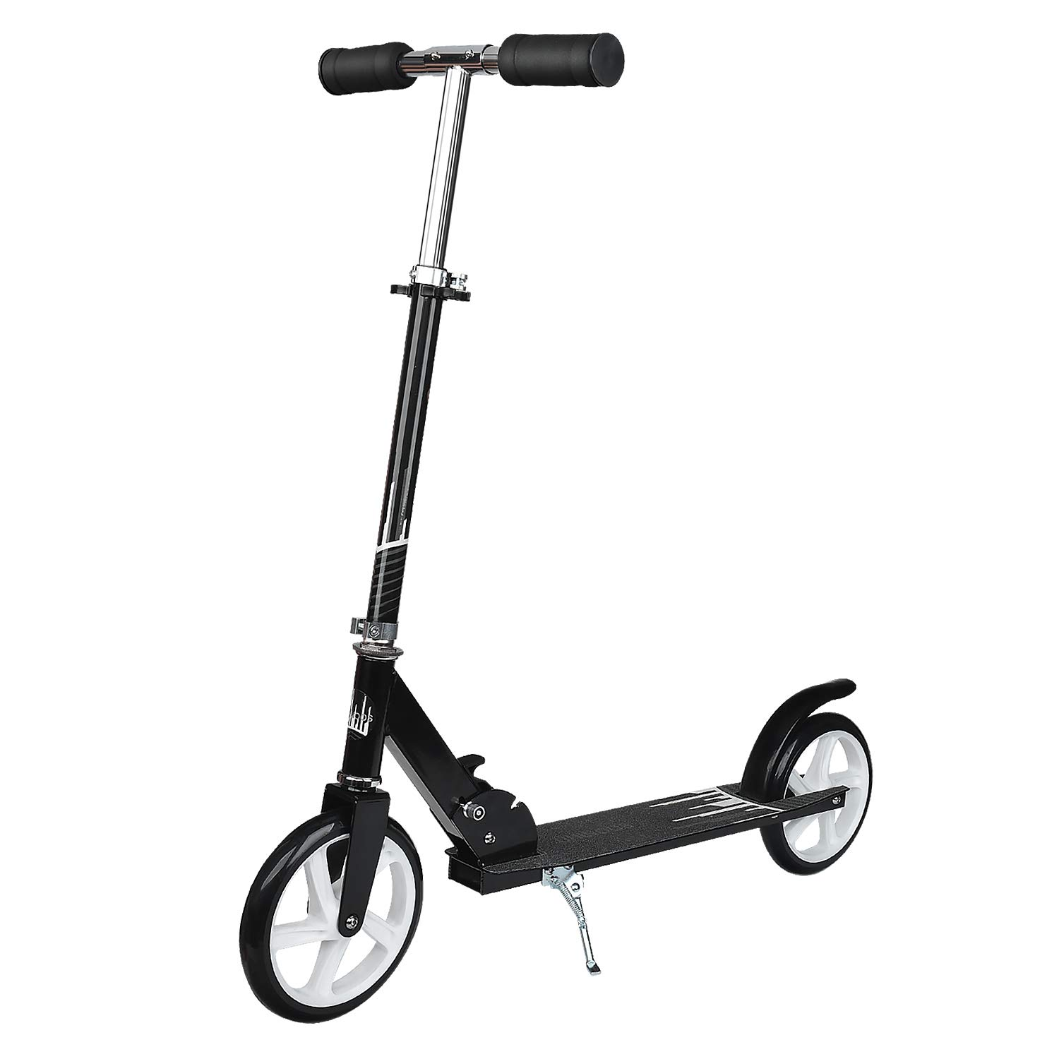 UHINOOS Adults Kick Scooter 200MM with Kickstand-Big Wheels Kids Scooter with Easy Folding System for Teenager (Black) by UHINOOS