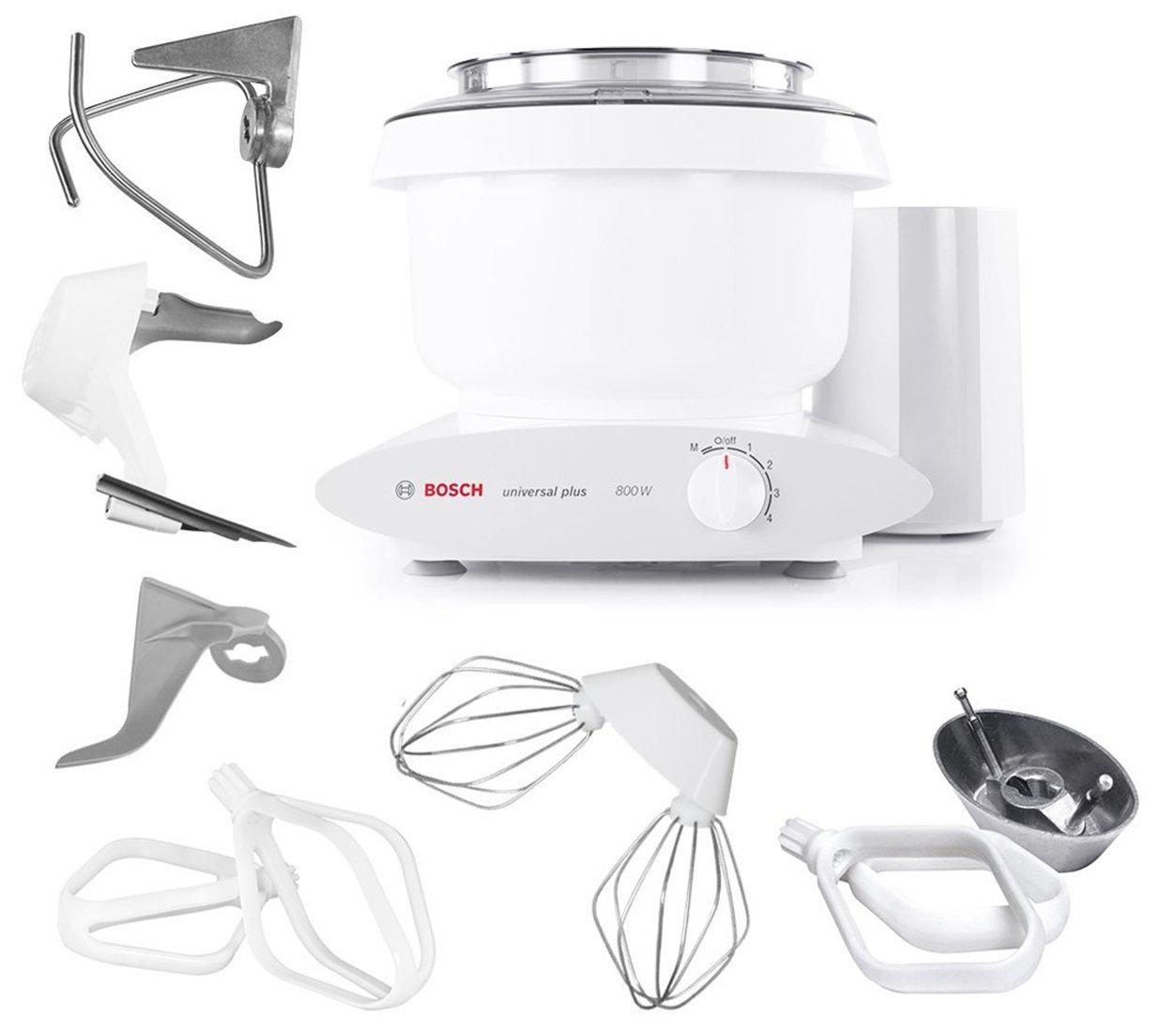 Bosch MUM6N10UC Universal Plus Stand Mixer, 800 Watt, 6.5-Quarts with Bowl Scraper and Cake Paddles