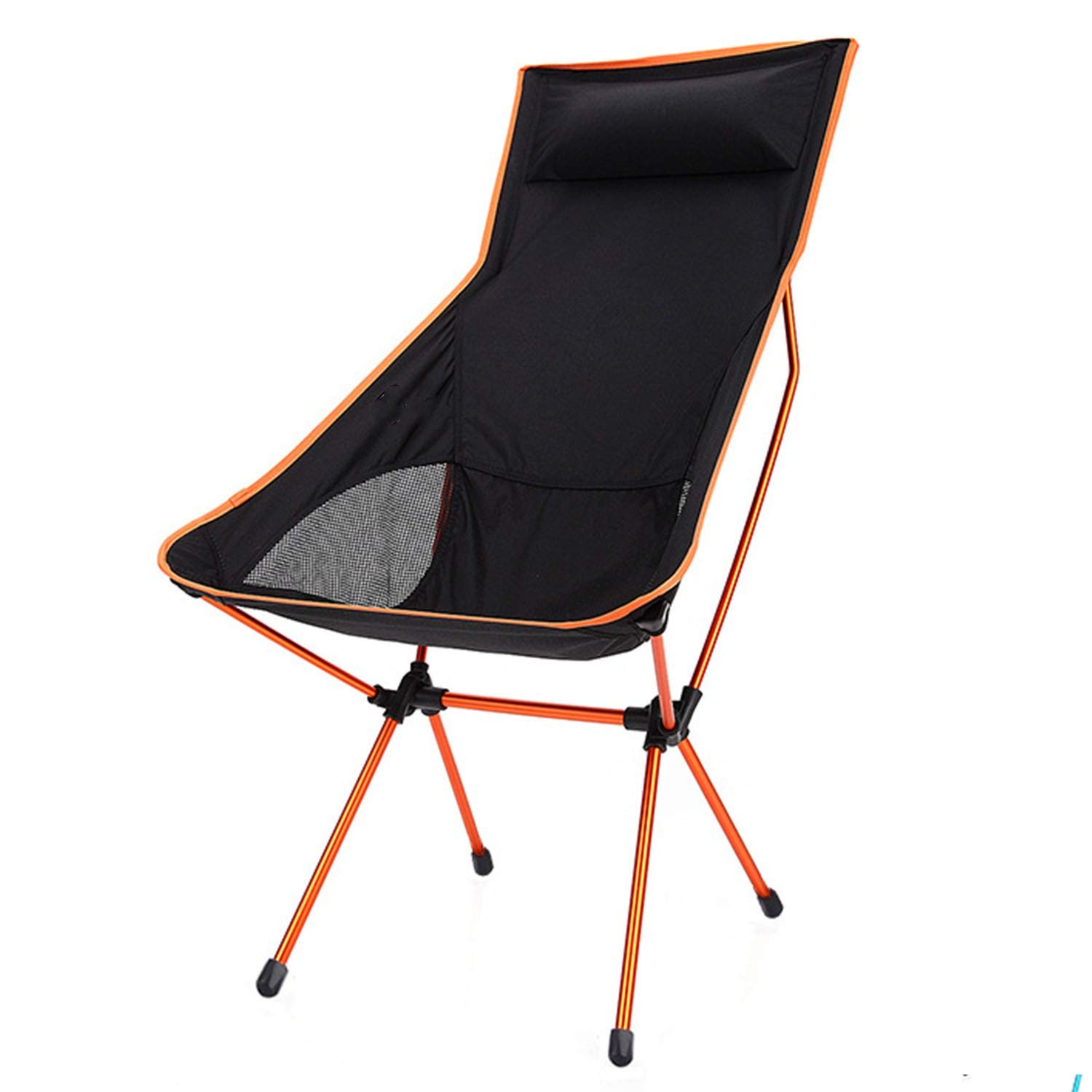 YOZOOE Aluminum Alloy Ultra Light Recliner,Outdoor Folding Chair with Pillow, Portable Camping Supplies, Leisure Back Fishing Chair,Four Colors are Shipped Randomly by YOZOOE