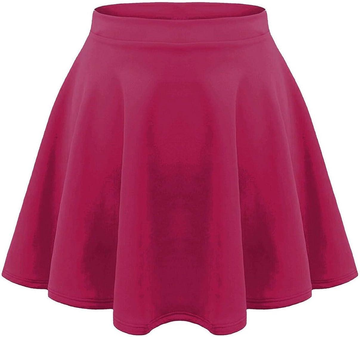 Fashion Oasis - Falda - Básico - para niña Rosa Fucsia 9/10 Años ...