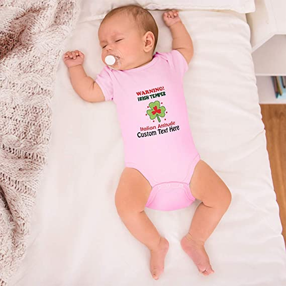 Irish and Italy Flag Irish /& Italian Temper with an Attitude Baby Bodysuit