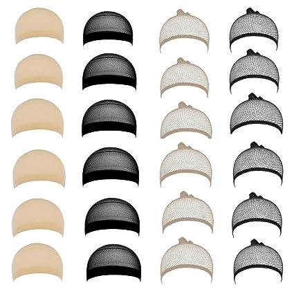 JZK 24 X Nylon elastic gorros peluca redecilla pelucapara mujeres ...