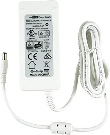 8 Foot Long Omnihil AC//DC Power Adapter 12V 1A UL Listed 1000mA 5.5x2.5millimeters Compatible with Moog MINITAUR