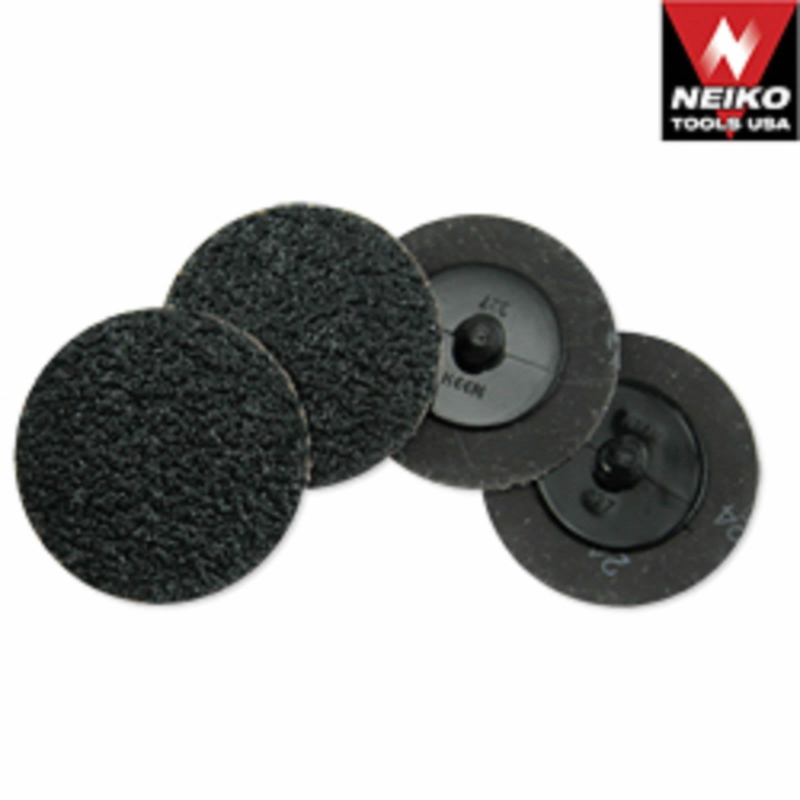 Neiko 50 Silicon Carbide Sanding Discs 3'' 24 Grit Grinding Sandpaper Wheel by Neiko