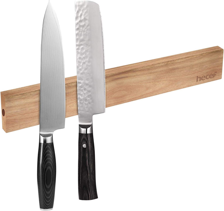 "hecef HFG441154 Magnetic Knife Strips, 12"", Brown"