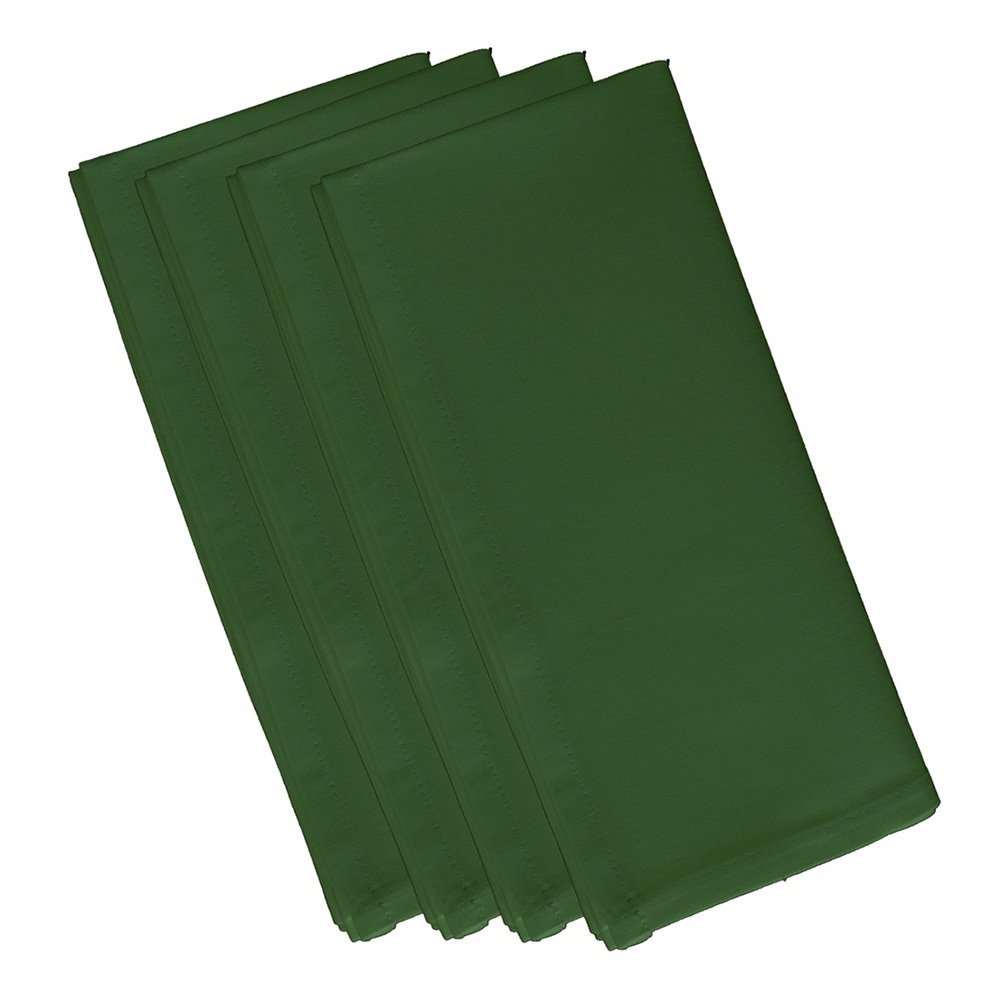 4 Piece Bamboo Dinner Napkin, (Set Of 4), Solid Pattern, Classic And Contemporary Style, Square Shape, Good Qualitie, Everyday Or Special Occasions, Decorative, Cotton Material, Hunter Green