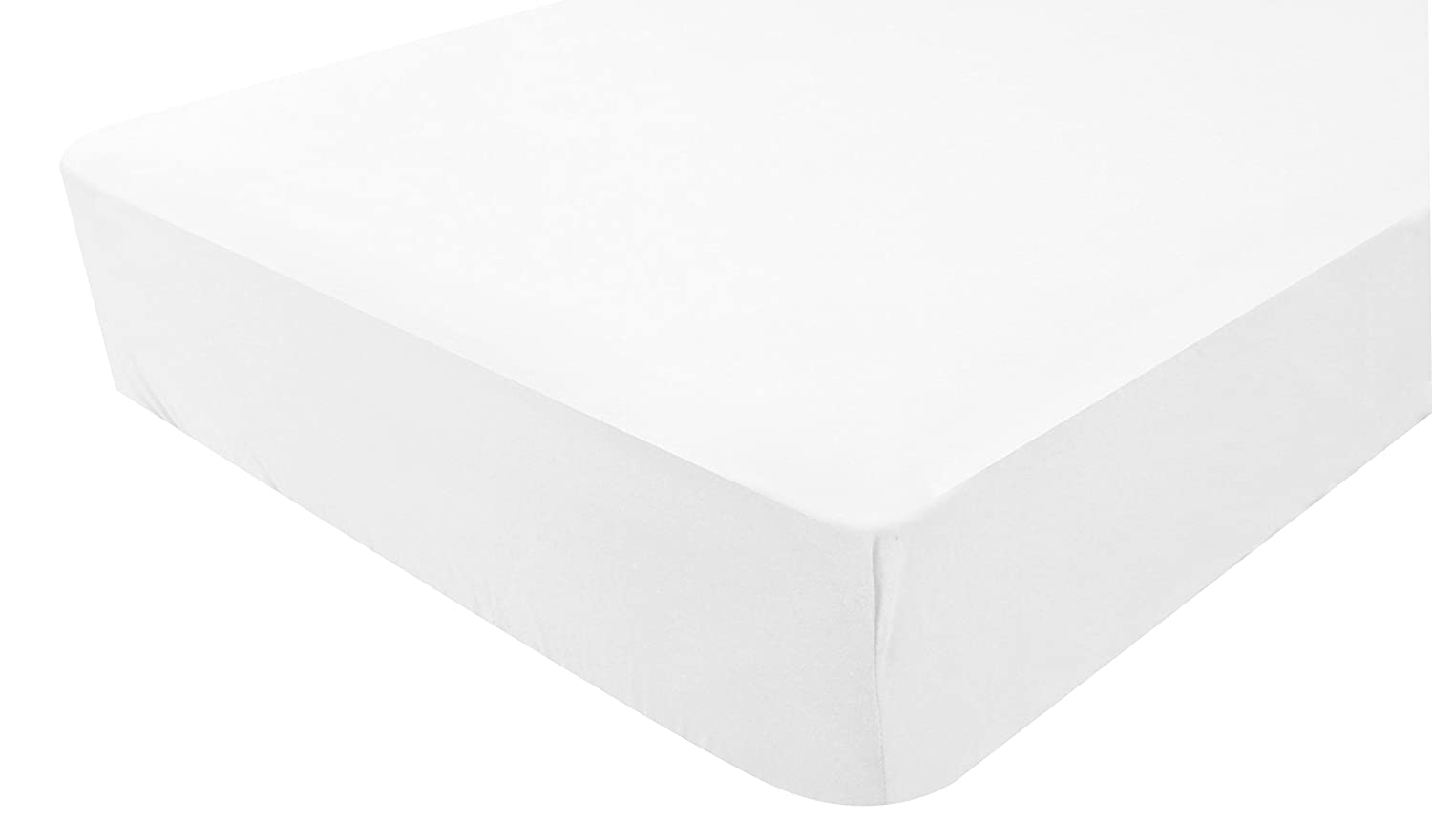 PMP Jersey White Effect Fitted Sheet - 50 x 100cm 5000589