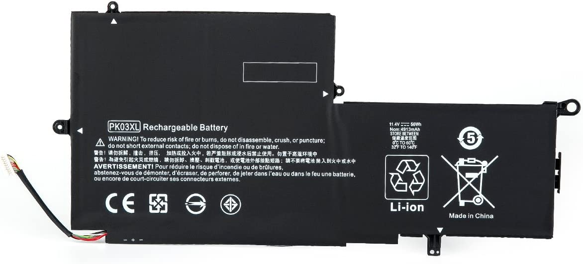 PK03XL Battery 11.4V 56WH Replacement for HP Spectre Pro X360 G1 G2 Spectre 13-4000 13-4100 13-4200 13-4000nf 13-4006tu 13-4103dx 13-4003dx Laptop HSTNN-DB6S TPN-Q157 789116-005 788237-2C1