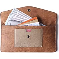 Women's Wallet Leather RFID Ultra-thin Envelope Ladies Purse Travel Clutch