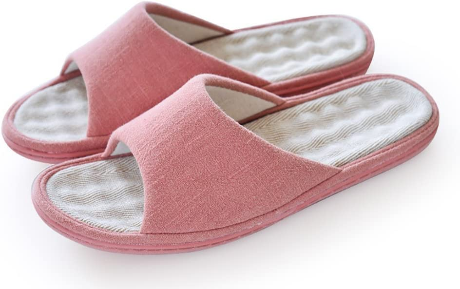 ffnen Toe Sandales de Lin et Coton Mules dhumidit/é Wicking Flax Chaussures F /¨ /¹ R Adultes Happy Lily Unisexe Slip on Chaussons antid/érapants