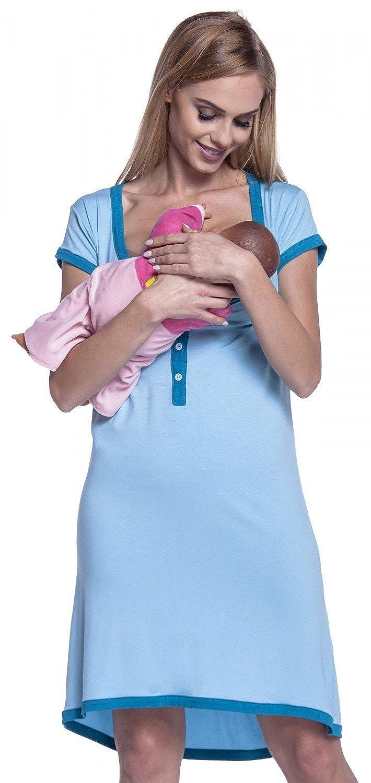 Happy Mama Femme Maternit/é Chemise Nuit Nuisette Grossesse et Allaitement 981p