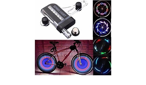 AUDEW Iluminación rueda de bicicleta 14 LED 30 diseño, multicolor ...