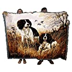 Pure Country Weavers - English Springer Spaniel Woven Tapestry Throw Blanket with Fringe Cotton USA Size 72 x 54 6