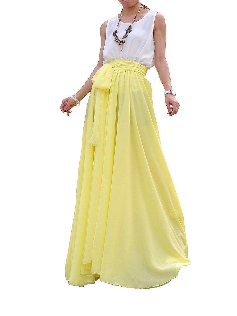 4ebb6fdcf0 Chiffon Maxi Skirt With Shorts Underneath
