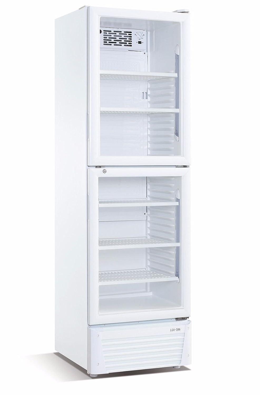 wDesigns Gastro Kühlschrank mit geteilter Glastür 386 Liter ...