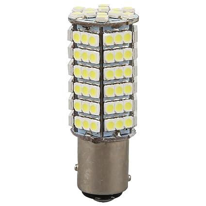 SODIAL(R)2 x 1157 P21 / 5W 102 SMD LED Bombilla de freno