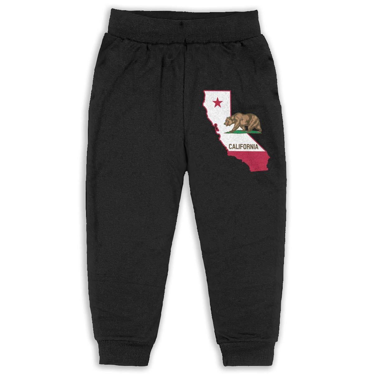 DaXi1 California Sweatpants for Boys /& Girls Fleece Active Joggers Elastic Pants