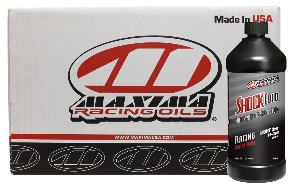 Maxima Racing Oils CS50-57901-12PK-12PK 3W Medium Synthetic Racing Shock Fluid - 12 quart, (Pack of 12) by Maxima