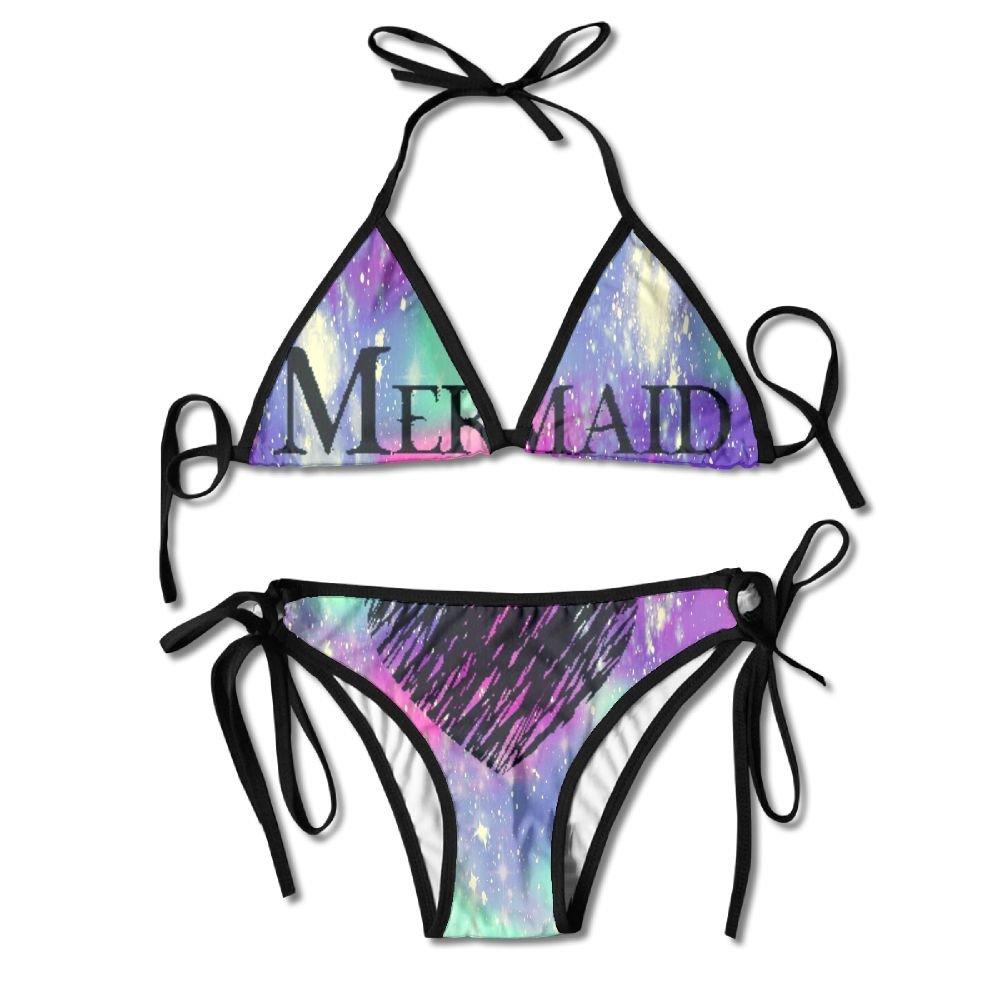 FDJKHY Personalized Women Bikini-Mermaid At Love Swimsuit Beachwear