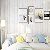 Homeme White Wood Contact Paper, 45 x 600cm Peel Stick Wallpaper Self Adhesive Wallpaper with PVC Waterproof Oil-Proof…