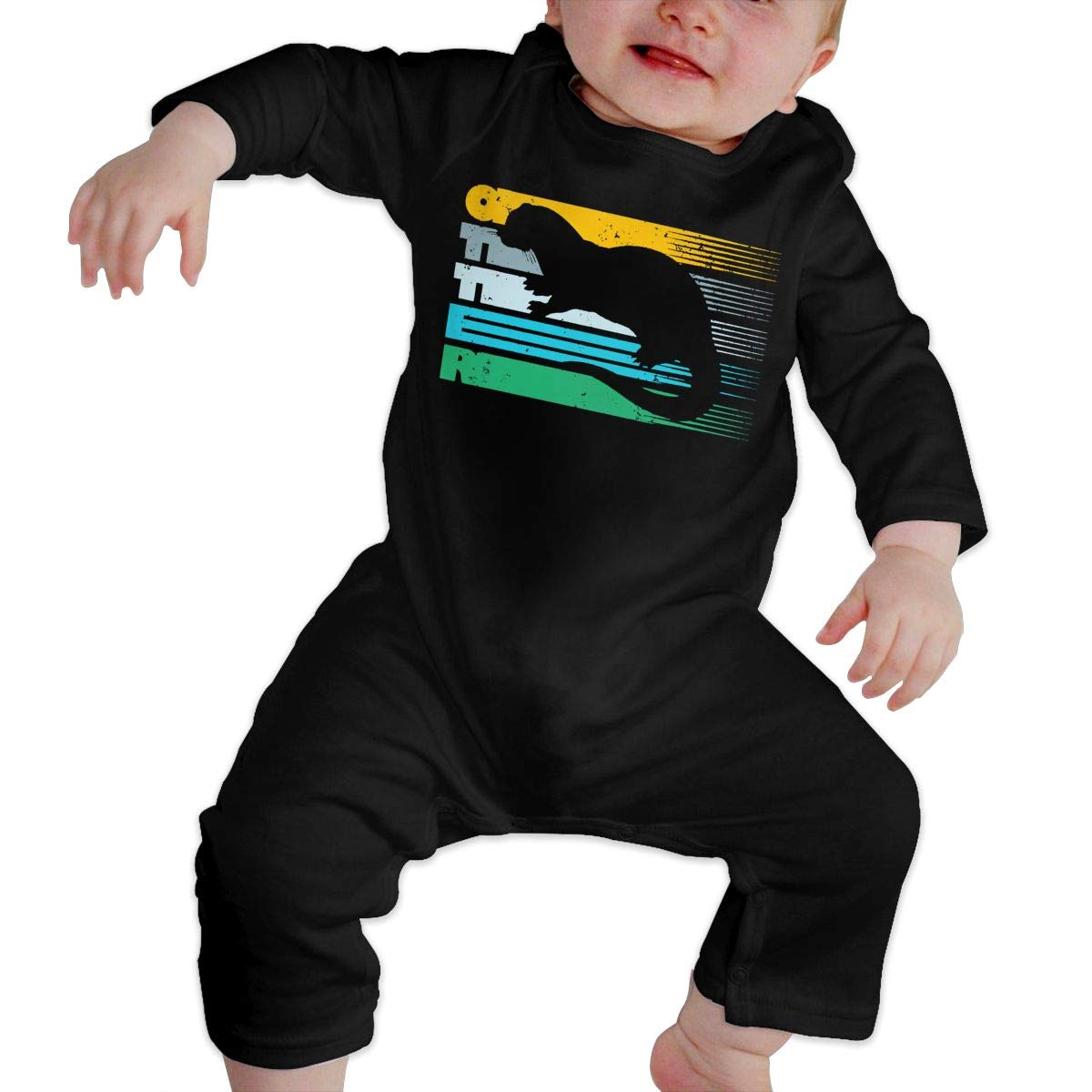 Mri-le1 Newborn Baby Long Sleeved Coveralls Cool Sea Otter Toddler Jumpsuit