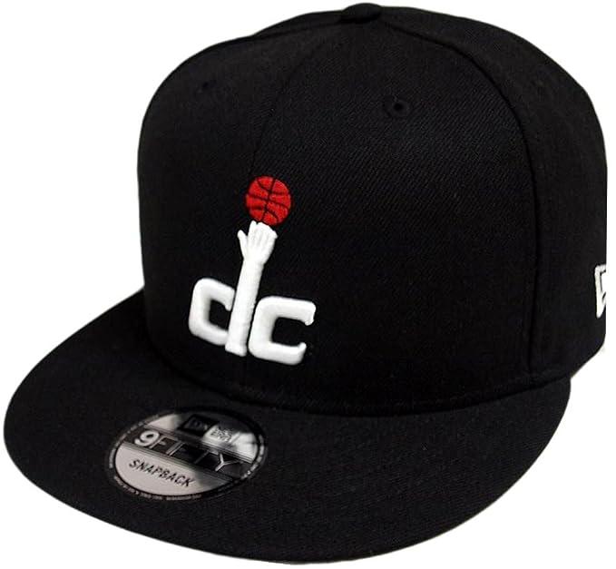 62a423296e7cdc ... france new era washington wizards hwc black white 9fifty snapback cap  limited edition amazon clothing 07ee0