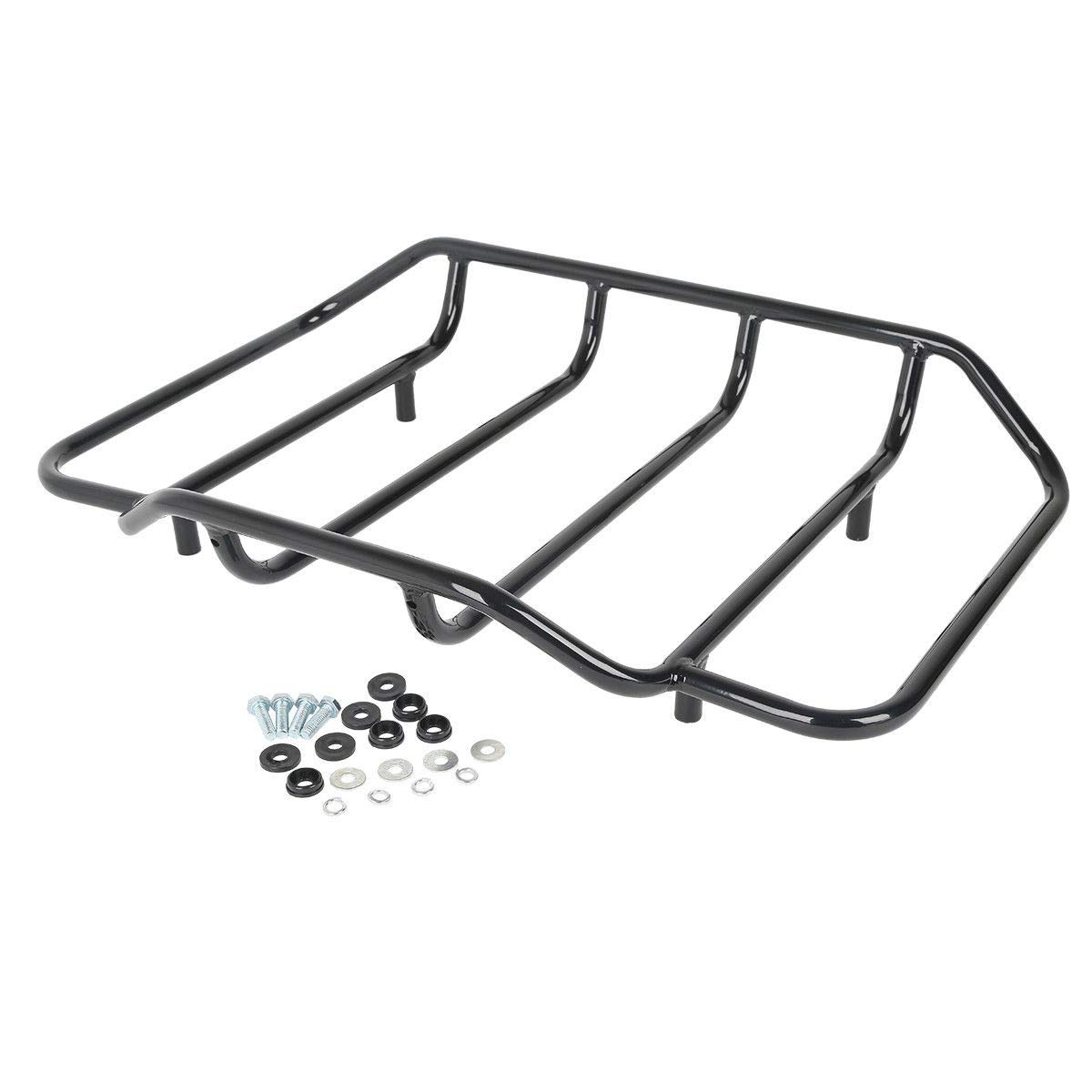 TCMT Black Tour Pack Luggage Rack Fits For Harley Touring Road King Street Glide Classic 1984-2020 by TCMT