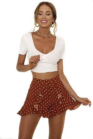 ShopINess Falda Casual con Topos (L): Amazon.es: Ropa y accesorios