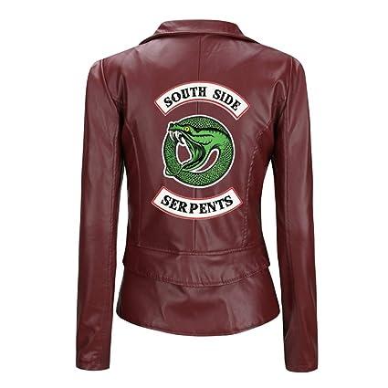 Girls Riverdale Southside Serpents Biker Gang Black Leather Jacket for Girls 2