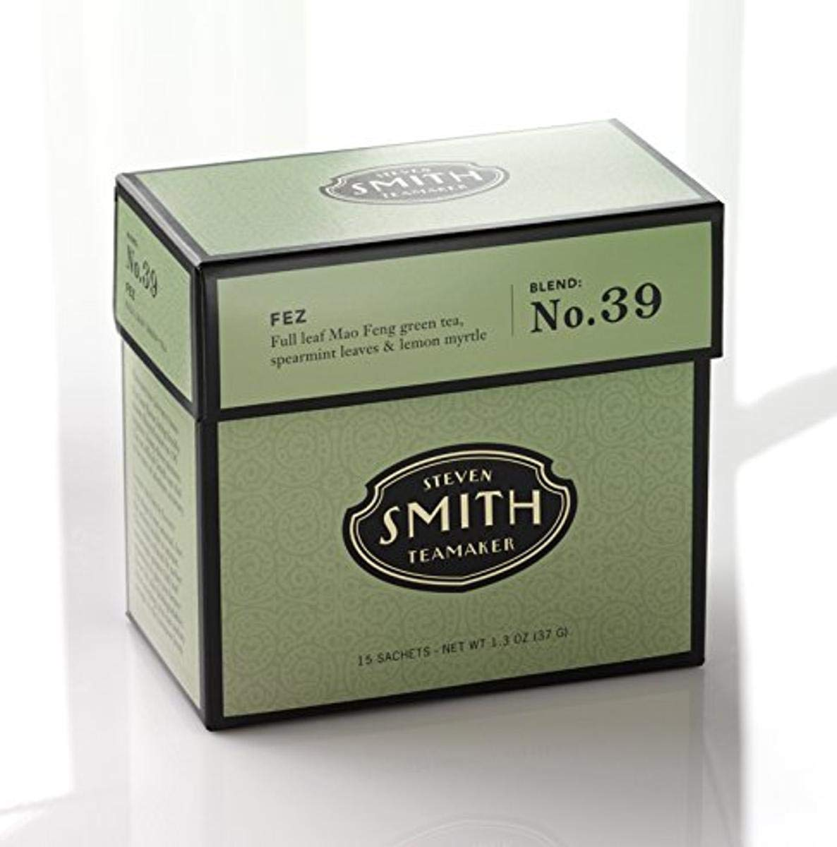 Smith Teamaker Fez Blend No. 39 (Full Leaf Green Tea), 1.3 oz, 15 Bags