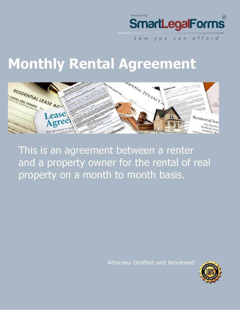 Monthly Rental Agreement [Instant Access] by SmartLegalForms, Inc.