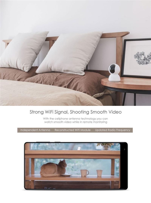 Studyset XIAOMI MIJIA 360 Degree 720P Night Vision Camera Motion Detection Two Way Audio Pan Tilt IR Camera