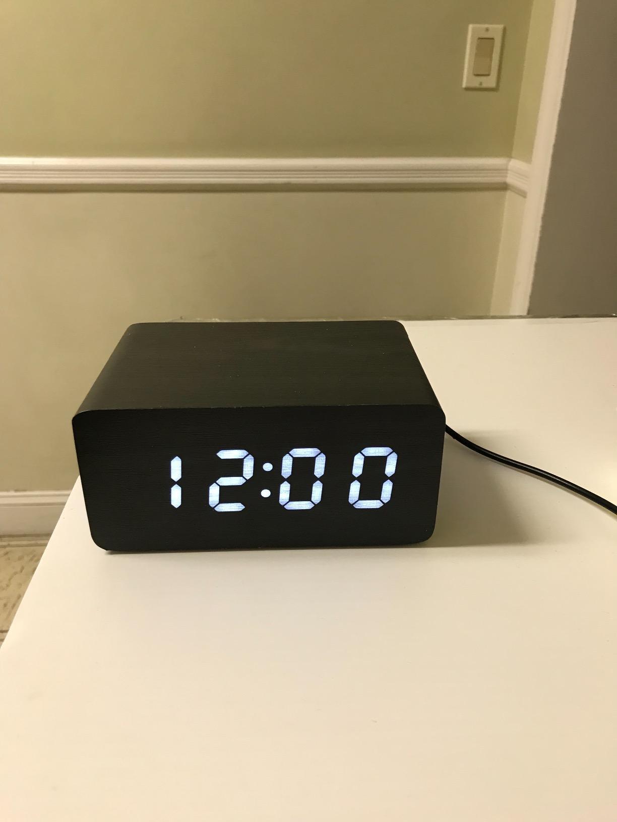 Triple Display Digital Alarm Clock Large White LED Display - Dual