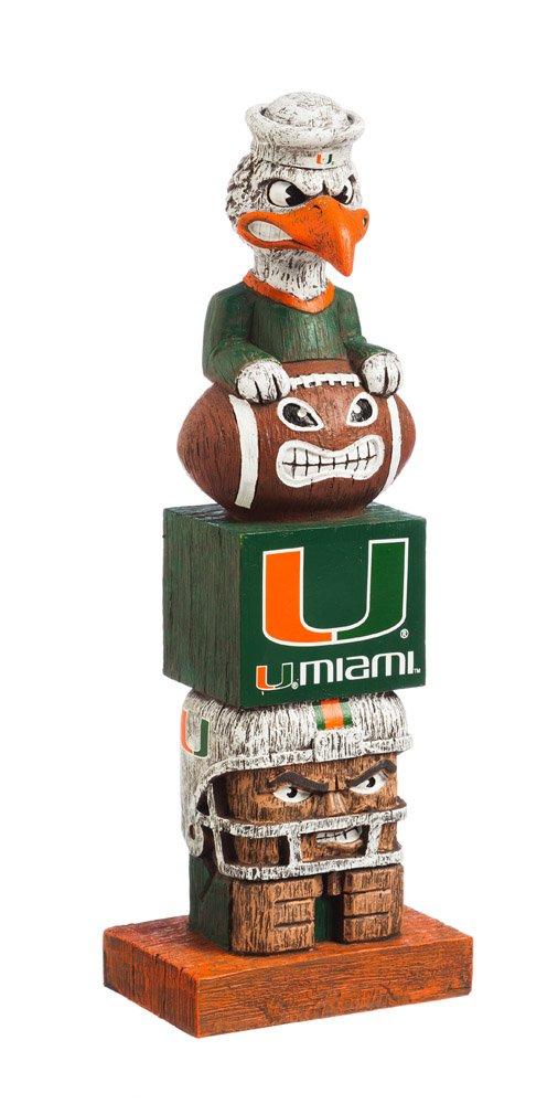 Evergreen NCAA Miami Hurricanes Tiki Totem