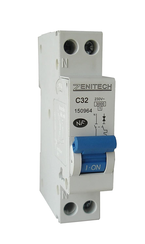Zenitech - Disjoncteur PH/N - 16A NF Felten disjoncteur 16a disjoncteur hager disjoncteur schneider disjoncteur electrique court circuit électrique disjoncteur différentiel