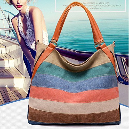 Yoome Colorful Mujer Size Hombro para Yoohobo0023 Colorful One Colorful Bolso Beige al rUrB7x