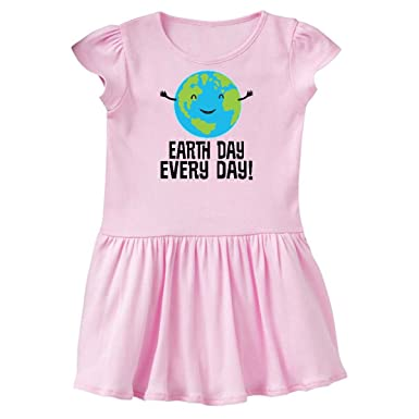 ee556d2a8 Amazon.com: inktastic - Earth Day Every Day Planet Toddler Dress 2f4e0:  Clothing