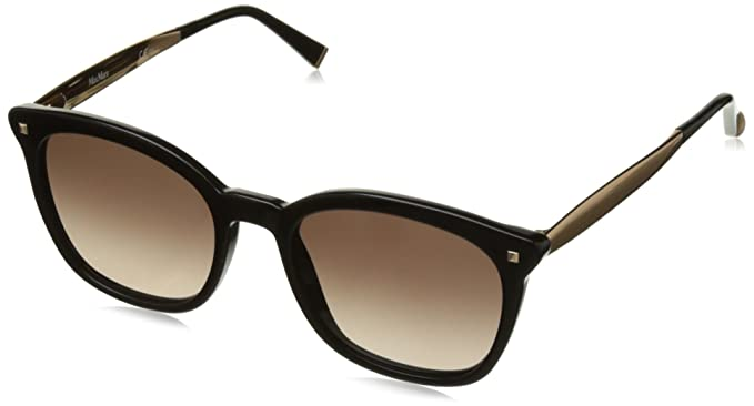 b5a367313b78 Image Unavailable. Image not available for. Color  Max Mara MM Needle III  06K Black Gold MM Needle III Square Sunglasses ...