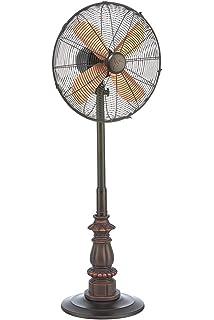 outdoor patio fans pedestal. DecoBREEZE Pedestal Fan Adjustable Height 3 Speed Oscillating Fan, 16 In, Kipling Outdoor Patio Fans E