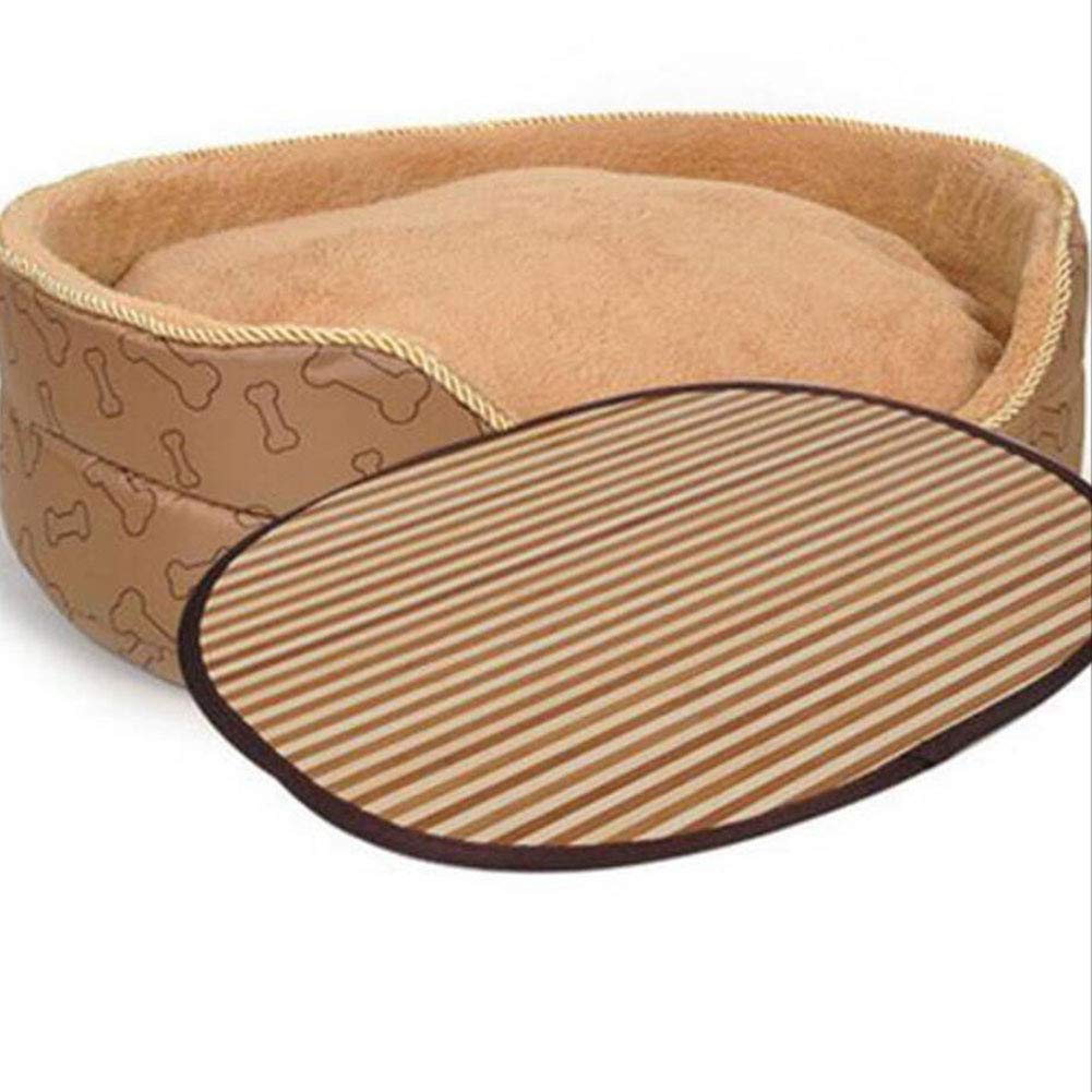 B 65CM B 65CM H.ZHOU Dogs and Cats Bed Liners & Mats Dog House Removable Four Seasons Universal Mat Dog Bed Pet Products Cat Nest Pet Nest (color   B, Size   65CM)