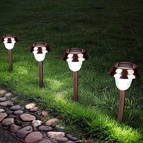 Led Driveway Lights High Illumination Solar Light Buy Blue: Ohuhu Stainless Steel Solar Garden Lights / Path Lights