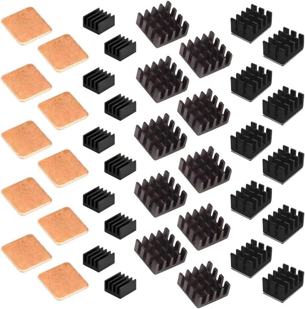 0128 Kühlkörper Aluminium 10x10x10mm silber Raspberry PI Arduino 2 Stück