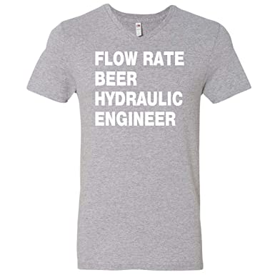 fedfd6c2 inktastic - Funny Hydraulic Men's V-Neck T-Shirt Small Athletic Heather  33252
