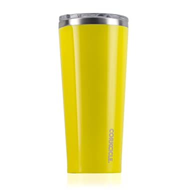 Corkcicle Tumbler-Classic Collection-Triple Insulated Stainless Steel Travel Mug, Gloss Lemonade, 24 oz