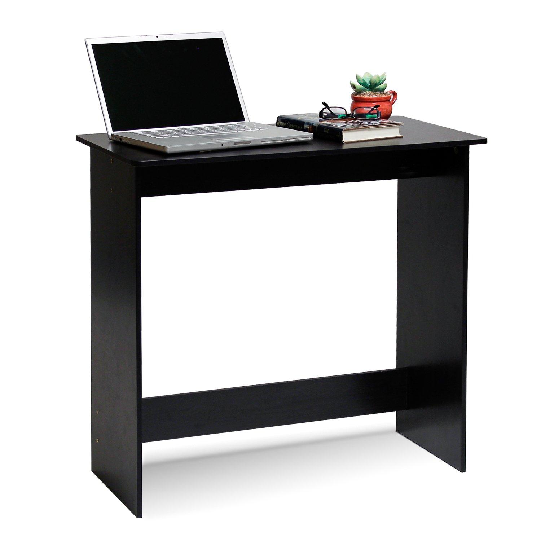 Small Corner Computer Desk Student Dorm Wood Tower Shelf