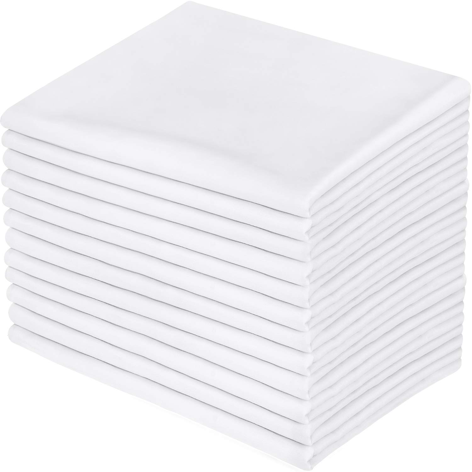 Utopia Bedding Cotton Stitched Pillowcases Pack of 12 - Hotel Quality Pillow Covers (White)